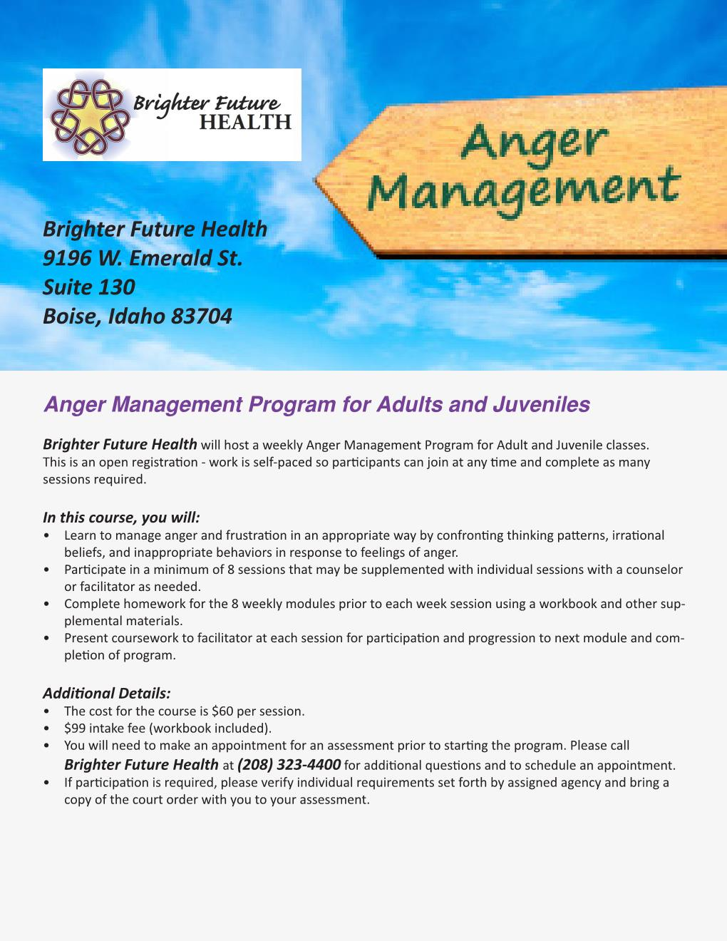 Workbooks anger workbook : Anger Management (Boise and Nampa) | Brighter Future Health, Inc.